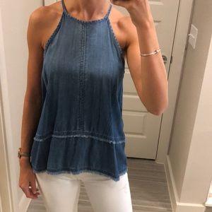 Cloth & stone Comfy jean tank top